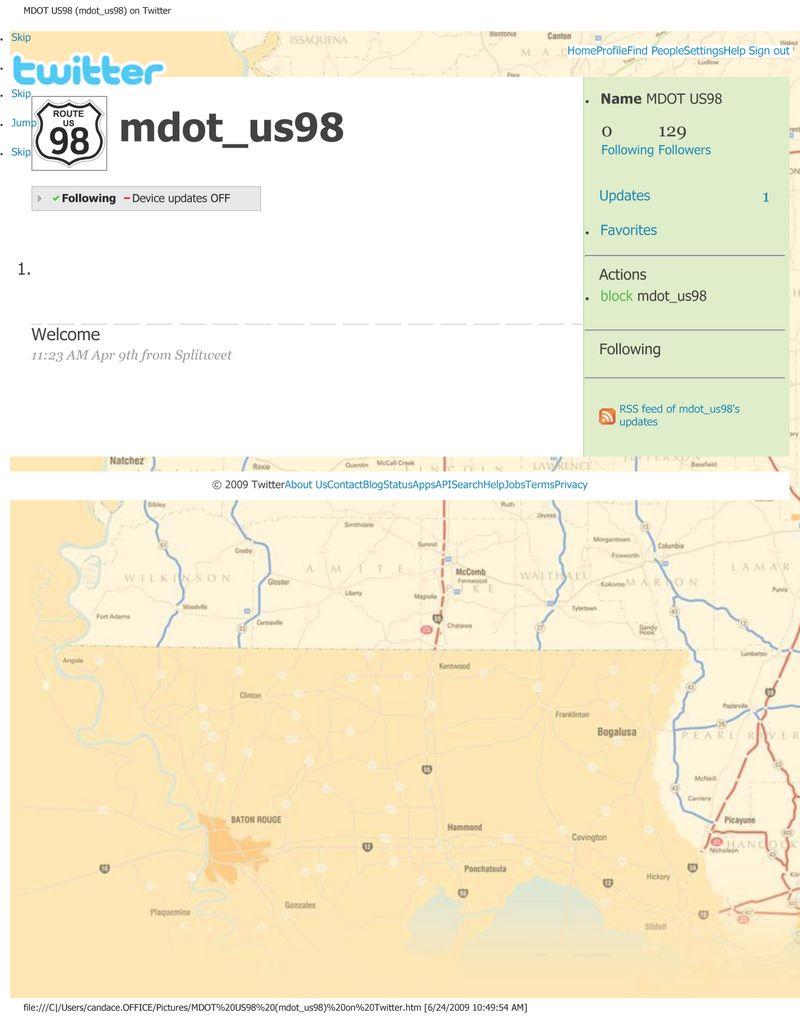 MDOT US98 (mdot_us98) on Twitter